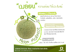 Morakot Melon, Juicy sweet and delicious fruit that's also good for you.